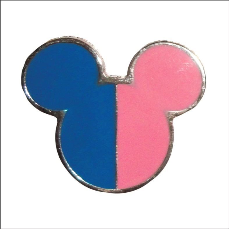 Pink and Blue Mickey Enamel Pin