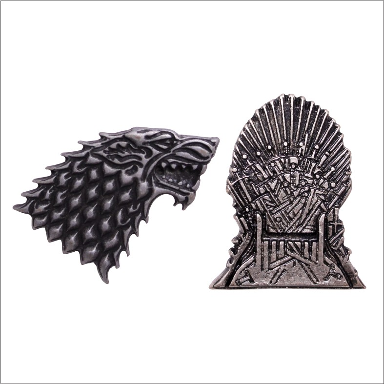 Kit Pins Game of Thrones - casa Stark